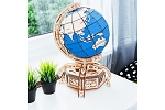 Globe (Blue) by Wooden.City 3D Puzzle Model Kit - Laser Cut Wood